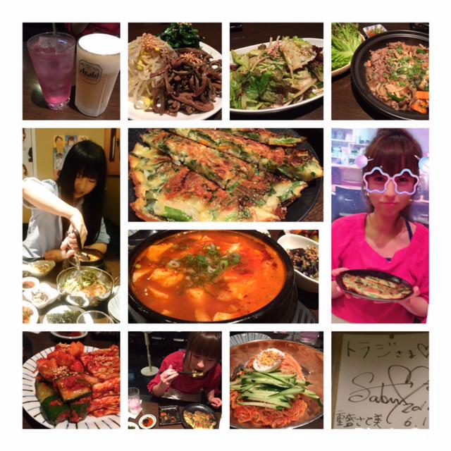 久しぶりの韓国料理とチーフと私。